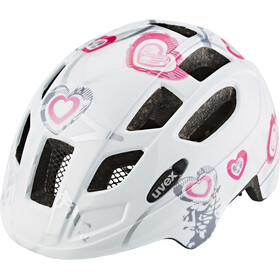 UVEX Finale Junior Helmet Kinder heart white pink